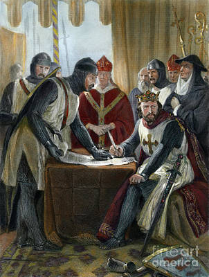 Drawing - Signing Magna Carta, 1215 by Granger