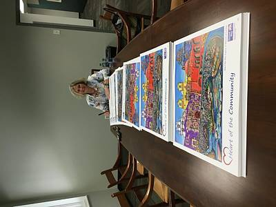 Painting - 2017 Signing Posters At The United Way by Patti Schermerhorn