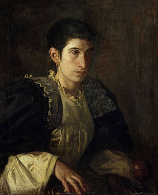 Lady Painting - Signora Gomez D'arza by Thomas Eakins