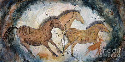 Pinto Painting - Signs - Lascaux by Jann Dillon