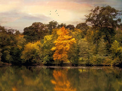 Autumn Pond Photograph - Signs Of Autumn  by Jessica Jenney