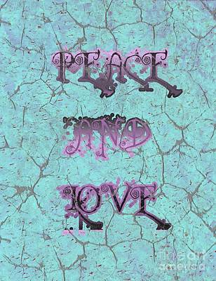 Mixed Media - Signs Of Peace And Love by Rachel Hannah