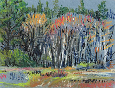 Spring Landscape Painting - Signs Of Spring by Donald Maier