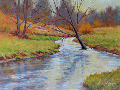 Branch Hill Pond Painting - Signs Of Spring by Keith Burgess