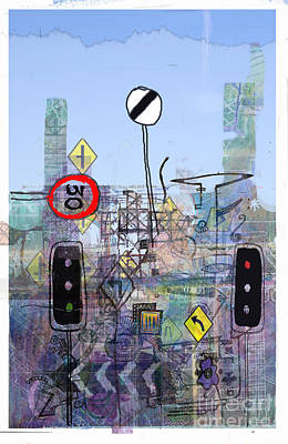 Traffic Light Digital Art - Signs Of The Times by Andy  Mercer