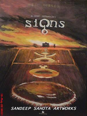 Orlando Bloom Drawing - Signs by Sandeep Kumar Sahota