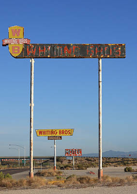 Whit Photograph - Signs Yucca Az by Troy Montemayor