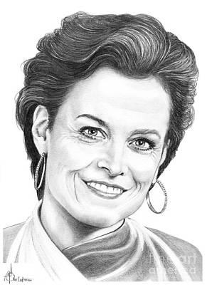 Murphy Drawing - Sigourney Weaver by Murphy Elliott