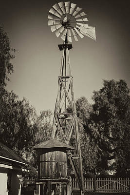 Sikes Antique Windmill Art Print by Guy Shultz