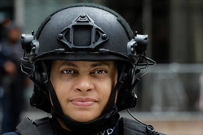 Police Officer Photograph - Sikh Day Nyc 2017 Female Anti Terrorist Police Officer by Robert Ullmann