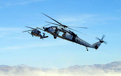 Airplane Digital Art - Sikorsky Hh-60 Pave Hawk by Maye Loeser