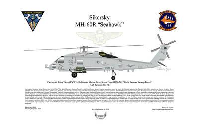Digital Art - Sikorsky Mh-60r Seahawk by Arthur Eggers