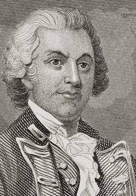 Continental Army Drawing - Silas Talbot 1751 - 1813. American by Vintage Design Pics