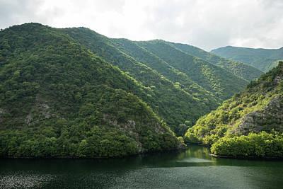 Photograph - Silence And Solitude - Verdant Mountains Hugging A Lake  by Georgia Mizuleva