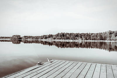 Photograph - Silence At The Dock by Wade Brooks