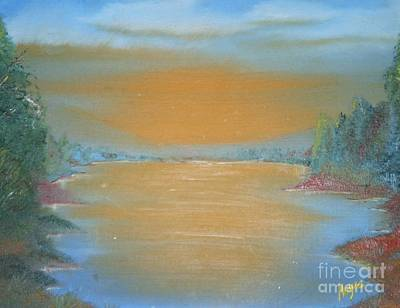 Art Print featuring the painting Silence by Barbara Hayes
