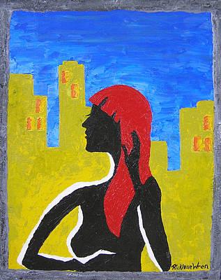 Silence In The City Art Print by Ricklene Wren
