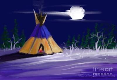 Digital Art - Silence In The Moonlight by Lora Duguay