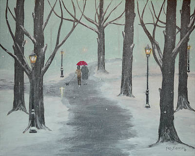 Silence In The Snow Original by Ken Figurski