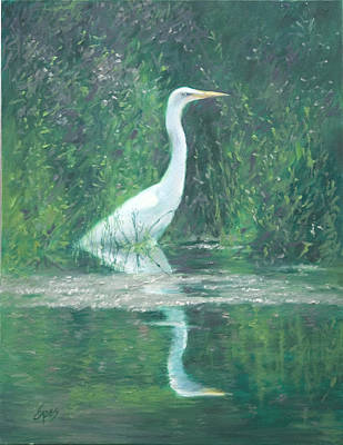 Silence Art Print by Linda Eades Blackburn