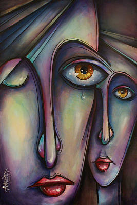 Tear Painting - Silence by Michael Lang