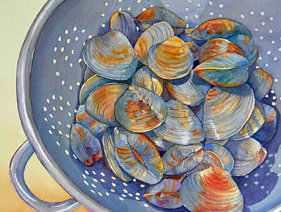 Painting - Silence Of The Clams by Judy Mercer
