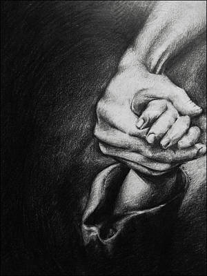 Drawing - Silence by Xrista Stavrou