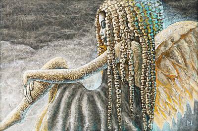 Fairy Painting - Silent Angel by Eurika Urbonaviciute