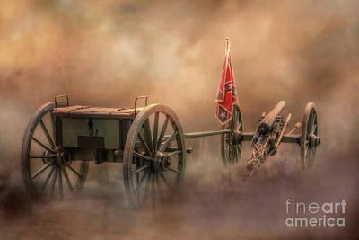 Digital Art - Silent Cannon At Gettysburg Four by Randy Steele