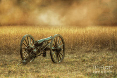 Digital Art - Silent Cannon At Gettysburg Two by Randy Steele