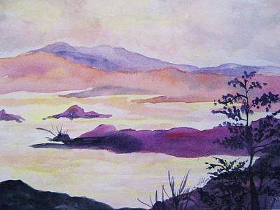 Waterscape Painting - Silent Dawn by Ellen Levinson