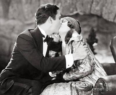Silent Film Still: Kissing Art Print by Granger