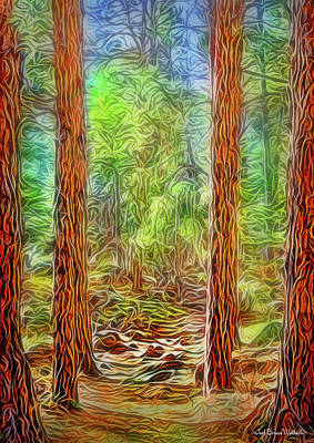 Digital Art - Silent Forest Path by Joel Bruce Wallach