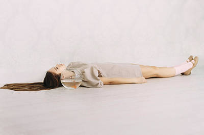 Photograph - Silent Mind. Series Escape Of Golden Fish  by Inna Mosina