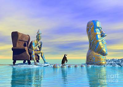 Surrealism Royalty-Free and Rights-Managed Images - Silent Mind - Surrealism by Sipo Liimatainen