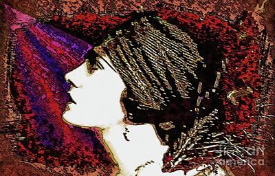Silent Movie Star - Gloria Swanson Art Print by Ian Gledhill