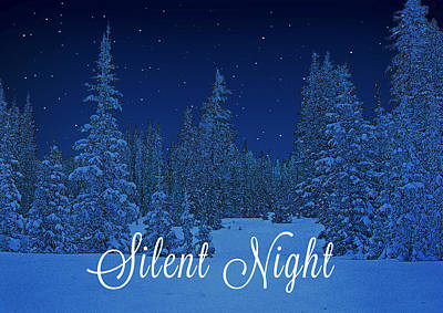 Photograph - Silent Night Christmas Card by Roy Kastning