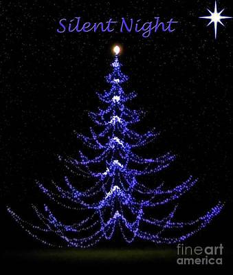 Tree Photograph - Silent Night Holy Night by D Hackett