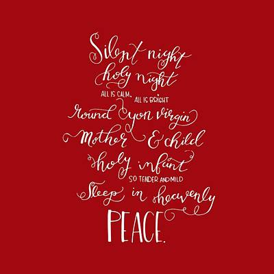Winter Night Drawing - Silent Night Holy Night by Nancy Ingersoll