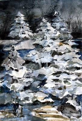 Silent Night Painting - Silent Night by Mindy Newman