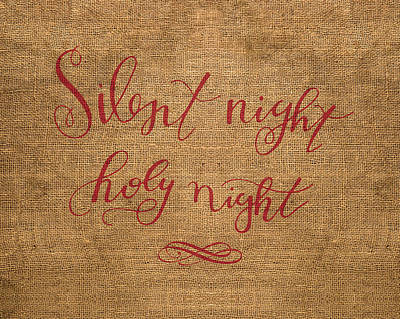 Christmas Song Mixed Media - Silent Night by Nancy Ingersoll