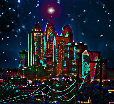 Silent Night Philly Night Art Print by Jonathan Shaps