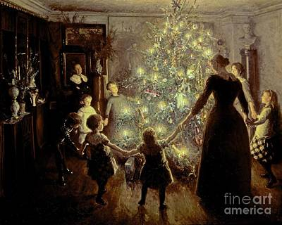 Christmas Eve Painting - Silent Night by Viggo Johansen
