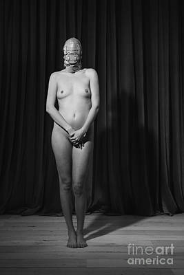 Photograph - Silent - Nude Woman In Fetish Scene by William Langeveld