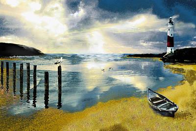 Seagull Digital Art - Silent Ocean by Anne Weirich