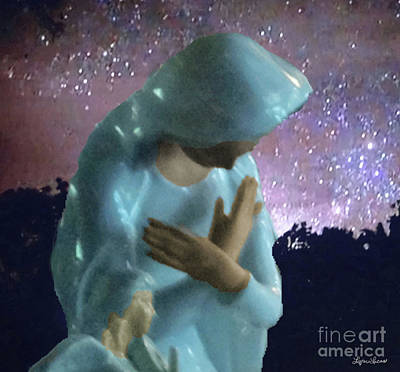 Mother Mary Digital Art - Silent Prayer by Lyric Lucas