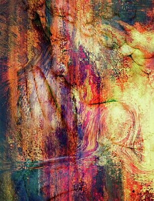 Mixed Media - Silent Prayers Abstract Realism by Georgiana Romanovna