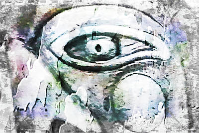 Screaming Mixed Media - Silent Scream by Di Designs