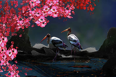 Cherry Blossoms Digital Art - Silent Search by Tony Marquez