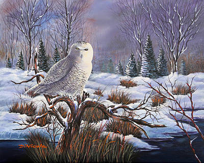 Waterfowl Painting - State Wildlife Award - Silent Sentinel by Anthony DiNicola